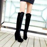 โปรโมชั่น Thick High Heels Over Knee High Boots Autumn Winter Canister Knight Waterproof Single Boots Shoes Intl จีน