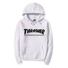 ขาย Thrasher Hoodies Autumn And Winter Sweatshirts Street Style Long Sleeve Athleisure Pull Over Hoodies Good Quality Fashion Comfortable White Black Intl จีน ถูก