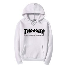 Thrasher Hoodies Autumn And Winter Sweatshirts Street Style Long Sleeve Athleisure Pull Over Hoodies Good Quality Fashion Comfortable White Black Intl เป็นต้นฉบับ