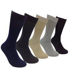 ขาย ซื้อ ออนไลน์ ถุงเท้าทำงานชาย ทออย่างดีคุณภาพเกรด A บรรจุคละสี จำนวน 12 คู่