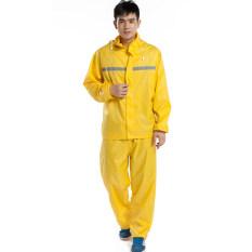 ส่วนลด สินค้า ฝนกางเกงกันน้ำเสื้อกันฝนไฟฟ้ารถจักรยานยนต์รถแบตเตอรี่ ชายรุ่นชุด สีเหลือง