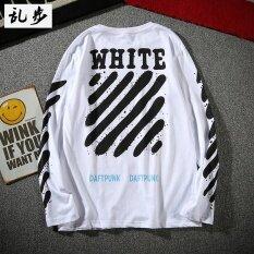 ราคา แบรนด์ Tide เสื้อยุโรปและอเมริกาเสื้อยืดผ้าฝ้ายหนุ่มนักเรียน 129 คอกลมแขนยาวสีขาว Unbranded Generic ฮ่องกง