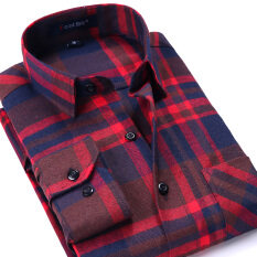 เสื้อเชิ้ตลายสก๊อตของผู้ชายแบบหนา ยี่ห้อYibin Dmm20 Dmm20 ใหม่ล่าสุด