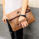 ราคา Tidog Retro Tide Male Leather Folding Hand Bag Ipad Clutch Bag Intl Tidog ใหม่