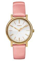 ขาย Timex Classic Women Watch Rasin Strap รุ่น 2107B2P332 Pink White