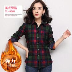 ราคา บ้านเกาหลีบวกกำมะหยี่หญิงลายสก๊อตเสื้อแจ็คเก็ตที่อบอุ่นเสื้อ Tl9001 ยืดกำมะหยี่ ออนไลน์