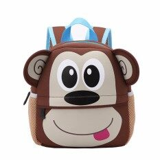 ขาย Toddler Kid Children Boy G*rl 3D Cartoon Animal Backpack Sch**l Bag Rucksack Hot Monkey Pattern Intl Unbranded Generic ถูก