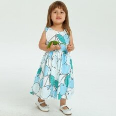 ขาย Toddler Kids Baby G*rl Clothes Printing Sleeveless Sashes Dress Princess Dresses Intl ออนไลน์ ใน ฮ่องกง