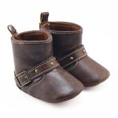 ขาย เด็กวัยหัดเดินทารกแรกเกิดเด็กทารกเด็กผู้หญิงเปลเด็กรองเท้ารองเท้าบู๊ตอ่อนนุ่ม Prewalker รองเท้าอุ่น นานาชาติ ออนไลน์