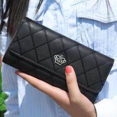ราคา Togo Shop กระเป๋าสตางค์ใบยาว กระเป๋าเงินผู้หญิง กระเป๋าตังตามวันเกิด รุ่น ดำ ใหม่ล่าสุด