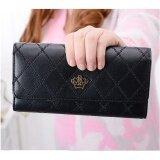 ราคา Togo Shop กระเป๋าสตางค์ใบยาว กระเป๋าเงินผู้หญิง กระเป๋าตังตามวันเกิด รุ่น ดำ ใหม่ ถูก