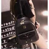 ขาย Togo Shop กระเป๋าเป้สะพายหลังผู้หญิง สไตล์เกาหลี รุ่น To11 สีดำ ถูก