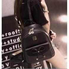 ขาย ซื้อ Togo Shop กระเป๋าเป้สะพายหลังผู้หญิง สไตล์เกาหลี รุ่น To11 สีดำ