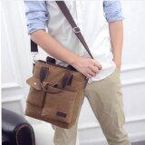 ขาย Tokyo Boy กระเป๋าสพายไหล่ ผู้ชาย ผ้า Canvas รุ่น Tk07 สีกาแฟ ถูก ใน ไทย