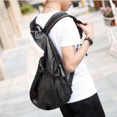ราคา Tokyo Boy กระเป๋าเป้ สะพายหลังผู้ชาย ลายตัดต่อขาวดำ รุ่น Ne547 สีขาว ใหม่