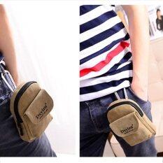 ราคา Tokyo Boy กระเป๋าคาดเอว ห้อยหูกางเกง ใส่ Iphone X Sumsung S8 รุ่น Nk315 น้ำตาลอ่อน ไทย