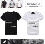 Tonyguess เสื้อยืดเซ็ต 2 ตัว Cotton Spandex สีดิบโคตรเท่ห์ เสื้อยืดสีดำ และสีขาว คอกลม เป็นต้นฉบับ