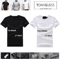 ขาย Tonyguess เสื้อยืดเซ็ต 2 ตัว Cotton Spandex สีดิบโคตรเท่ห์ เสื้อยืดสีดำ และสีขาว คอกลม Tonyguess ออนไลน์