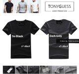 ซื้อ Tonyguess T Shirt เซ็ต 2 ตัว Cotton Spandex เสื้อยืดคลาสสิค สีดิบโคตรเท่ห์ สีดำ คอวี สีเทาเข้ม คอกลม ใน กรุงเทพมหานคร