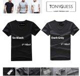 ราคา Tonyguess T Shirt เซ็ต 2 ตัว Cotton Spandex เสื้อยืดแฟชั่นชาย สีดิบโคตรเท่ห์ สีเทาเข้ม ดำ คอวี เซ็ต 2 ตัว ใหม่