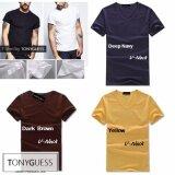 ซื้อ Tonyguess T Shirt เซ็ตสุดคุ้ม 3 ตัว Cotton Spandex เสื้อยืดแขนสั้น สีดิบโคตรเท่ห์ สีเหลือง คอวี สีกรมท่า คอวี สีน้ำตาลเข้ม คอวี Int M Tonyguess เป็นต้นฉบับ