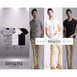 ซื้อ Tonyguess T Shirt เซ็ต 3 ตัว สุดคุ้ม Cotton Spandex เสื้อยืดแฟชั่นชาย สีดิบโคตรเท่ห์ สีดำ เทาอ่อน ขาว คอกลม Tonyguess