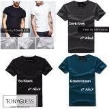 ส่วนลด Tonyguess T Shirt เซ็ตสุดคุ้ม 3 ตัว Cotton Spandex เสื้อยืดแขนสั้น สีดิบโคตรเท่ห์ สีดำ สีเทาเข้ม สีเขียวน้ำทะเล คอกลม Int M กรุงเทพมหานคร