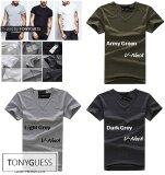 ราคา Tonyguess T Shirt เซ็ตสุดคุ้ม 3 ตัว Cotton Spandex เสื้อยืดคลาสสิค สีดิบโคตรเท่ห์ สีเทาเข้ม สีเทาอ่อน สีเขียวทหาร คอวี ที่สุด