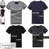 ขาย Tonyguess T Shirt เซ็ตสุดคุ้ม 4 ตัว Cotton Spandex เสื้อยืดคลาสสิค สีดิบโคตรเท่ห์ สีดำ เทาเข้ม คอกลม สีเทาอ่อน กรมท่า คอวี