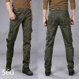 ขาย Tool Trousers Men S Multi Pocket Outdoor Sports Military Uniforms Trousers Electrical Maintenance Work Clothes Multi Pack Students 560Army Green Intl Zmgang ใน จีน