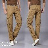 ส่วนลด Tool Trousers Men S Multi Pocket Outdoor Sports Military Uniforms Trousers Electrical Maintenance Work Clothes Multi Pack Students 8138Khaki Intl
