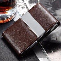 โปรโมชั่น Top Class กระเป๋าใส่นามบัตร กล่องใส่นามบัตร สเตนเลสสตีล 194Zx สีน้ำตาล Top Class