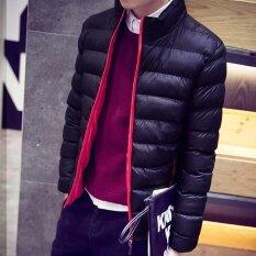 ราคา เสื้อผู้ชายลงสายคล้องคอ Chaqueta สีดำซิปหนังผอมชุดร้อนขายใหม่แฟชั่น ดำ นานาชาติ Moffi จีน