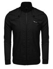 ราคา ขายดีที่สุด Sunweb แฟชั่นผู้ชายคอปกเสื้อลำลองแบบเต็มรูปแบบพร้อมสายคล้องไหล่ สีดำ นานาชาติ ฮ่องกง