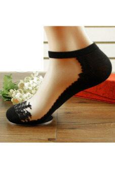 หญิงคู่ถุงเท้าสั้น Toprank ขนมพายตัดต่ำเท้าถุงเท้าสำหรับลูกเรือธรรมดาผู้หญิงใหม่ 6 (สีดำ)