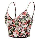 ราคา Toprank Meaneor Women Ladies Strap V Neck Floral Print Camis Bohemia Style Casual Club Slim Crop Tops Rose Intl ที่สุด