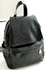 ราคา Toprank Retro Women Backpack Pu Leather Women S Casual Day Packs Sch**l Backpacks Black
