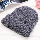 ซื้อ Toprank Winter Reversible Beanie Men Hat Women Hats Snow Caps Knit Hat Skull Baggy Warm Skullies ออนไลน์ ถูก