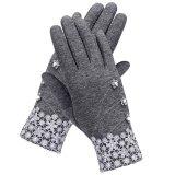 ขาย ซื้อ Topsellers365 New Fashion Women Outdoor Warm Fleece Touch Screen Gloves Grey Intl ใน Thailand