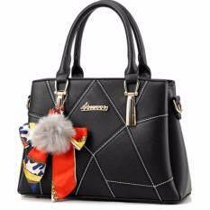 โปรโมชั่น กระเป๋าสะพายเกาหลี กระเป๋าTote Bagผู้หญิง สีดำ Vlj008Th ใน กรุงเทพมหานคร