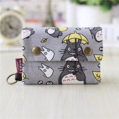 ขาย กระเป๋าสตางค์เวอร์ชั่นเกาหลีกระเป๋าสตางค์ผ้าเพศหญิงสำหรับผู้ชายและผู้หญิง สีเทา Totoro Unbranded Generic ถูก