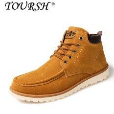 ขาย ซื้อ Toursh Men Explosion Of Tooling Shoes Martin High Shoes(Khaki) Intl จีน