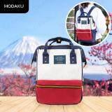 โปรโมชั่น Travelgear24 กระเป๋าเป้ กระเป๋าสะพายหลัง กระเป๋าแฟชั่นผู้หญิง Fashion Shoulder Bag Backpack Red White สีขาวแดง Travelgear24
