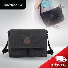 โปรโมชั่น Travelgear24 กระเป๋าสะพายข้าง กระเป๋าสะพายไหล่ Shoulder Bag Cross Body Bag Black สีดำ ใน กรุงเทพมหานคร