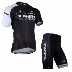 ทบทวน Trek ชุดปั่นจักรยานลายทีม สีดำ ขาว