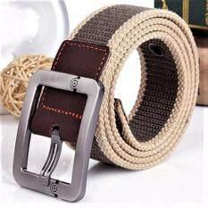 ราคา Trusty เข็มขัดผู้ชาย Men S Belt เข็มขัดผ้าแคนวาส สีน้ำตาล เป็นต้นฉบับ