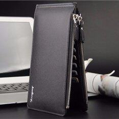 ซื้อ Trusty กระเป๋าใส่เช็ค กระเป๋าเงิน กระเป๋าหนัง กระเป๋าใบยาว Baellerry 145Z สีดำ ถูก