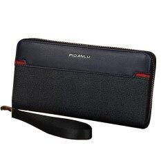 ราคา Trusty กระเป๋าสตางค์ใบยาว กระเป๋าใส่เช็คมีซิปรอบ Pidanlu Black สีดำ Trusty ใหม่