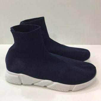 รองเท้าบู๊ทผู้หญิงหุ้มข้อสูง สไตล์แบรนด์ดัง พื้นนิ่มยางยืดทั้งตัวใส่สบาย รุ่น TS888