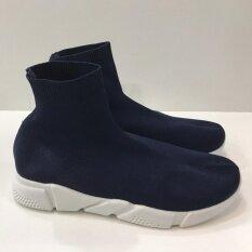 รองเท้าบู๊ทผู้หญิงหุ้มข้อสูง สไตล์แบรนด์ดัง พื้นนิ่มยางยืดทั้งตัวใส่สบาย รุ่น Ts888.